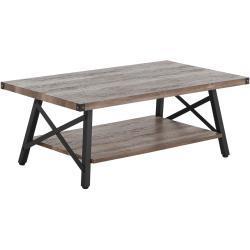 Sofabord 100x55 cm Brungrå CARLIN