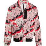 Stone Island jakke med abstrakt tryk - Lyserød
