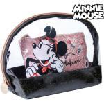 Toilettaske Minnie Mouse Sort (2 pcs)