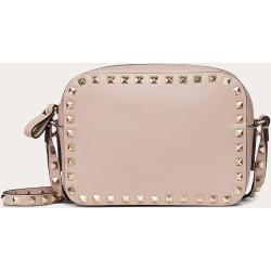 Valentino Garavani Small Rockstud Calfskin Crossbody Bag Women Poudre 100% Calfskin OneSize