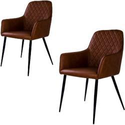 Victor spisebordsstol - Vintage brun - 2 stk.