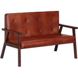 vidaXL 2-personers sofa ægte læder brun
