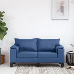 vidaXL 2-personers sofa stof blå