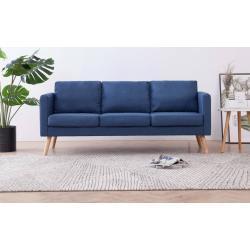 vidaXL 3-personers sofa i stof blå