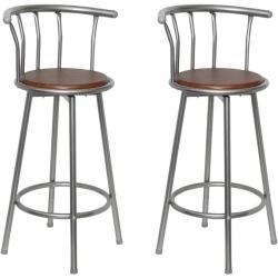 vidaXL barstole 2 stk. stål brun