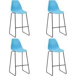 vidaXL barstole 4 stk. plastik blå