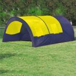 vidaXL campingtelt i polyester til 6 personer blå og gul