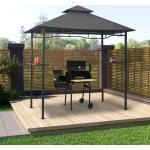 vidaXL grillpavillon 240x150x255 cm stål antracitgrå
