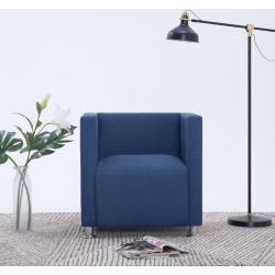vidaXL kubelænestol stof blå