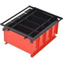 vidaXL papirkævle briketformer stål 38 x 31 x 18 cm sort og rød