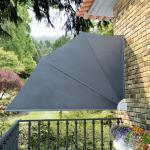 vidaXL sammenklappelig sidemarkise til altan grå 160 x 240 cm