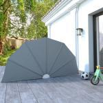 vidaXL sammenklappelig sidemarkise til terrasse grå 160 cm