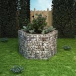 vidaXL sekskantet gabion-højbed 160x134x100 cm