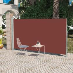 vidaXL Sidemarkise til terrasse 160 x 300 cm brun
