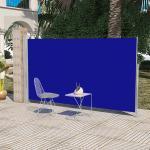 vidaXL Sidemarkise til terrasse 160x300 cm blå