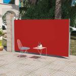 vidaXL Sidemarkise til terrasse 160x300 cm rød