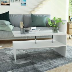vidaXL sofabord spånplade 90 x 59 x 42 cm hvid