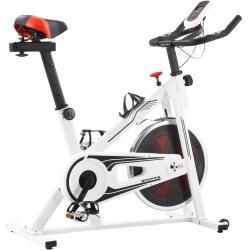 vidaXL spinningcykel med pulsmåler hvid og rød