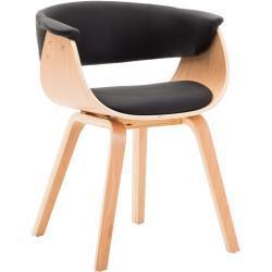 vidaXL spisebordsstol bøjet træ og kunstlæder sort