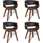 vidaXL spisebordsstole 4 stk. bøjet træ og kunstlæder