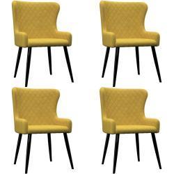 vidaXL spisebordsstole 4 stk. fløjl gul