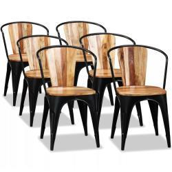 vidaXL spisebordsstole 6 stk. massivt akacietræ