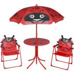 vidaXL udendørs bistrosæt til børn 3 dele med parasol rød