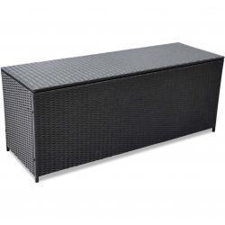 vidaXL udendørs opbevaringskasse sort 150x50x60 cm polyrattan