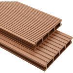 vidaXL WPC terrassebrædder med tilbehør 36 m² 2,2 m brun