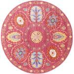 Vintage Tæppe Orion Ø 150 Shabby Chic/Overdyed Orientalsk Rundt Rosa/Lyserød